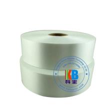 Kundengebundene Größe Polyester-Taft-Stoff-Band Weiße wasserdichte Kleidung waschbares Aufkleber-Satinband