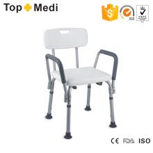 Topmedi Badezimmer-Sicherheits-Ausrüstung Höhenverstellbarer Aluminium-Bad-Stuhl