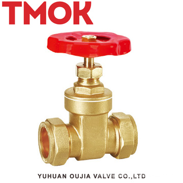 sand blasting chrome plated with hand wheel active joints brass gate valve