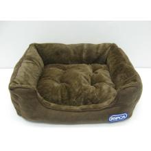 Rectangle Bolster Haustierbett mit abnehmbarem Kissen