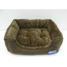 Rectangle Bolster Pet Bed avec coussin amovible
