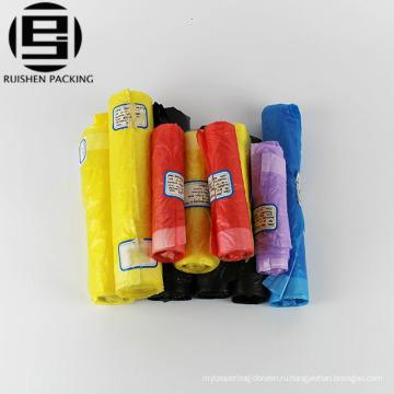 HDPE пластиковые шнурок мешок отброса на крене