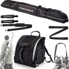 Custom Logo Outdoor Sport Waterproof Ski Boot Bag Set With Ski Handle Strap