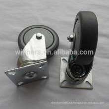 Rueda giratoria de plástico gris de 100 mm para mostrador