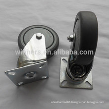 100mm gray plastic swivel caster for counter table