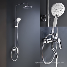 5 Functions Chrome Wall Mounted Bath Combine Shower Head Set
