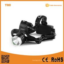 T80 multifunções de alta potência LED farol 10W Xml T6 recarregável LED Head Tocha