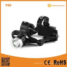 T80 Многофункциональная светодиодная лампа высокой мощности 10W Xml T6 Перезаряжаемый светодиодный фонарик