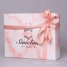 Boîte de papier d'emballage de vêtements de série élégante de série de marbre