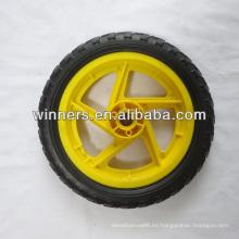 Rueda plástica de la espuma de EVA de 12 pulgadas / rueda de la carretilla del bebé / rueda del cochecito de bebé