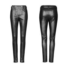 black gothic pants tight Pants women tight black leather pants for women PUNK RAVE OPK-239