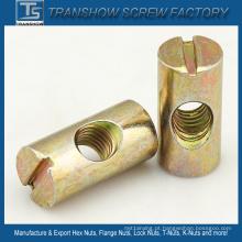 Porca de barril de zinco galvanizado