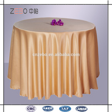 100% Polyester Solid Color Sateen Fabric Banquet ou Mariage Usé Ensemble de table d'hôtel