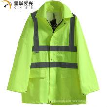 CNSS Hohe Sichtbarkeit gelb oder maßgeschneiderte Farbe Regenjacke und Hosen