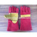 Porzellan 14 Zoll Kuh Split Leder Schweißen Handschuhe mit verstärkte volle Palme AB Klasse