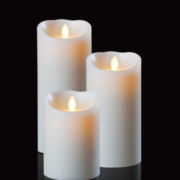 venta por mayor de Luminara de cera en movimiento mecha flameless velas led con temporizador de 5