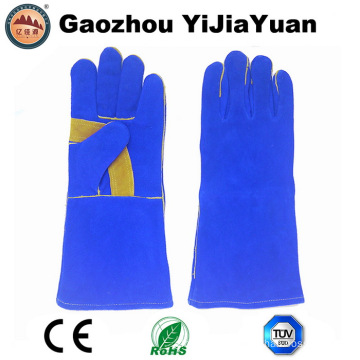 Safety Leather Work Gloves for Welding with Ce En407