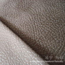 Embossed Suede Leather 100% Polyester Shammy Fluff Fabric for Slipcovers