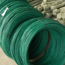 Green pvc coated galvanized wire
