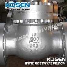 Válvula de retención de brida de acero fundido 1500lb