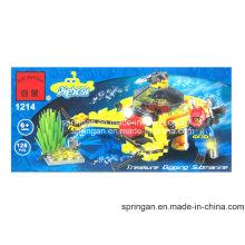 El diseñador Bathyscaphe 128PCS de la serie de la aguamarina juega los juguetes