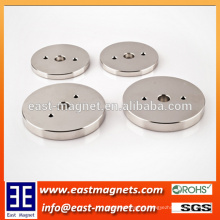 Permanent Neodymium Magnet for Automobile/high technique producing ring magnet with three holes