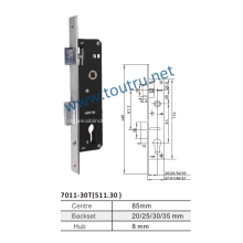 Keyless sliding door hook lock