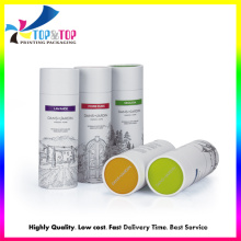Glossy Lamination Art Paper Cylinder Custom Logo Packaging Boxes