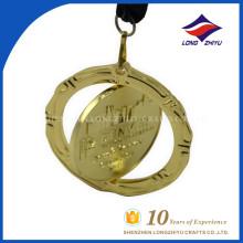 Exquisite Custom Award Souvenir drehbare 3d Medaillen