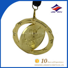 Exquisite Custom Award Souvenir Rotatable 3d Medals