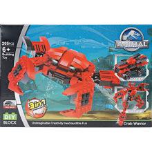 DIY educativo juguete Cangrejo Deformación de bloques de juguete
