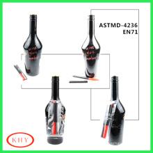 Erasable Glass Marker Pen Painting on Bottle