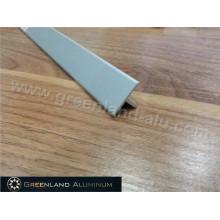 Tira de transición de piso de aluminio con polvo blanco