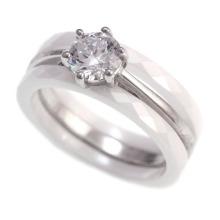 Anel de casamento de prata 925
