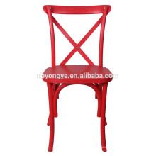 Resin Cross Back Stuhl für Hochzeit Halle