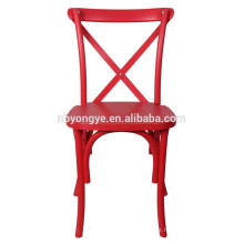 Resin Cross Back Chair for wedding hall