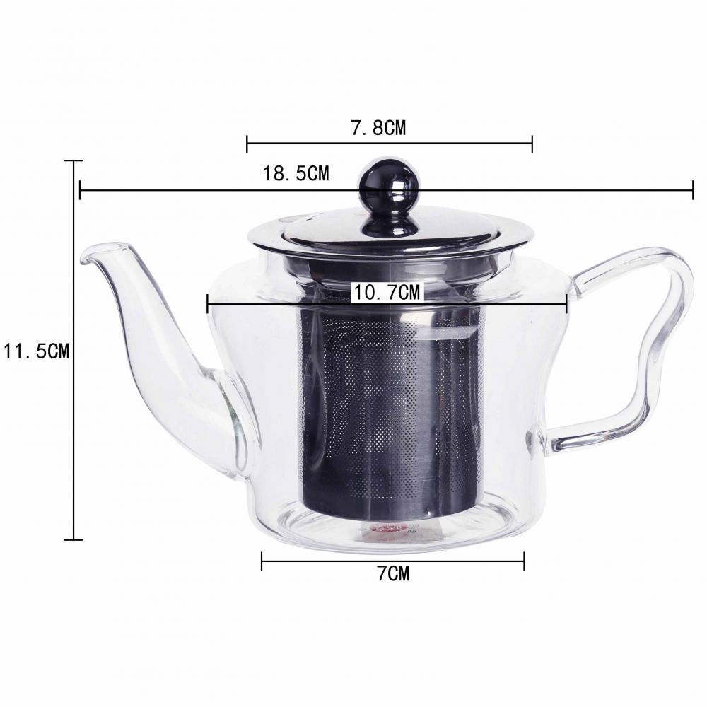 2017 New  Wholesale Flower Glass Blooming Tea Pot