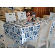 Tampa de tecido de mesa transparente extravagante