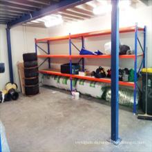 Einkaufswagen-Rack, Industrie-Glasregale abnehmbare Longspan-Regale