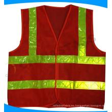 Ropa de seguridad de alta visibilidad de malla de color naranja
