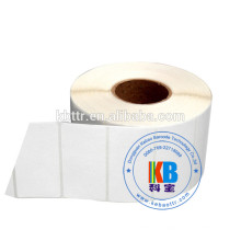 Adesivo de código de barras adesivo em branco rolo cor branca