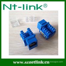 Netlink Hot selling 90 degree UTP Dual IDC RJ45 Cat5E Keystone Jack