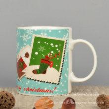 Taza de cerámica de alta calidad del regalo de la Navidad