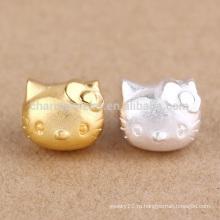 Sef071 DIY заключения ювелирных изделий, тенденция 925 стерлингов щепка Hello Kitty кошка шарм для браслетов, позолоченные повезло кошки подвески
