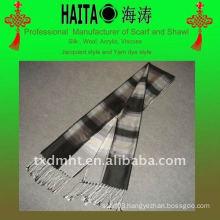 blue fashion long silk scarf shawl for women