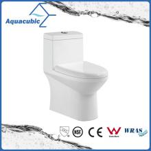 One Piece Dual Flush Ceramic Toilet in White (ACT7004)