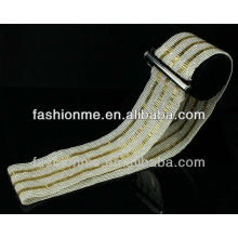 Fashionme handmade exquisite beads and mental stretch belt