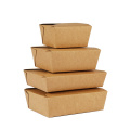 Engångs Kraft Paper Lunch Box Takeaway Packaging Box
