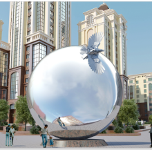 Stainless Steel Large Metal Sphere For Garden Square Decoration