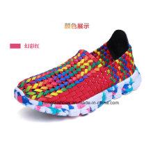 Chaussures tissées à la main colorées respirantes Camoufalge